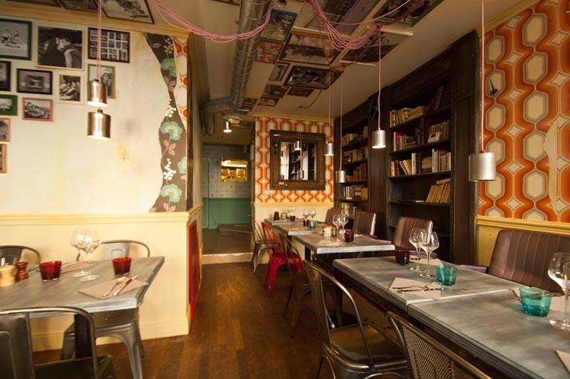 Restaurant Decoration Atypique Paris : Bistrot restaurant vintage industriel à la décoration