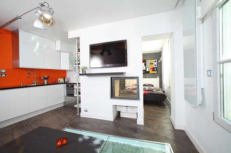 Appartement de petite surface dans le marais parisien for Design appartement petite surface