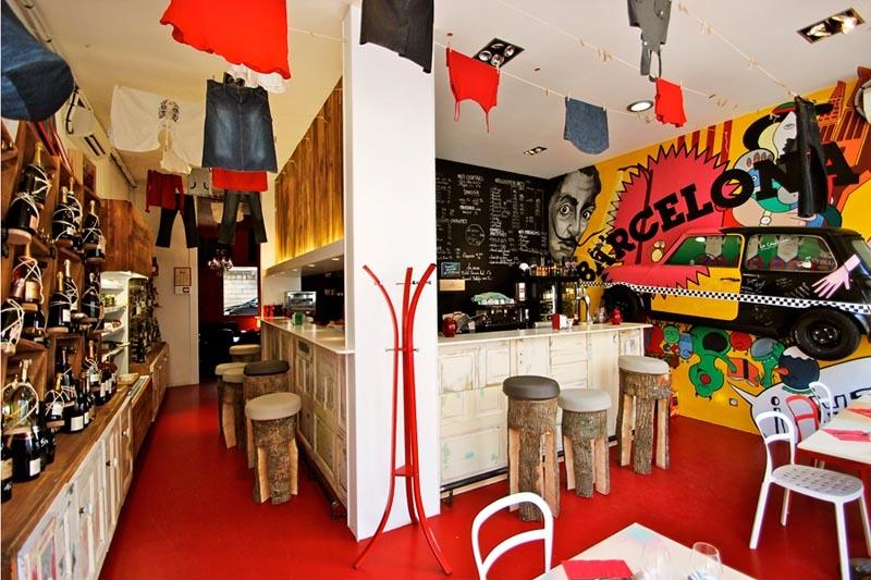Restaurant catalan espagnol original décalé et branché