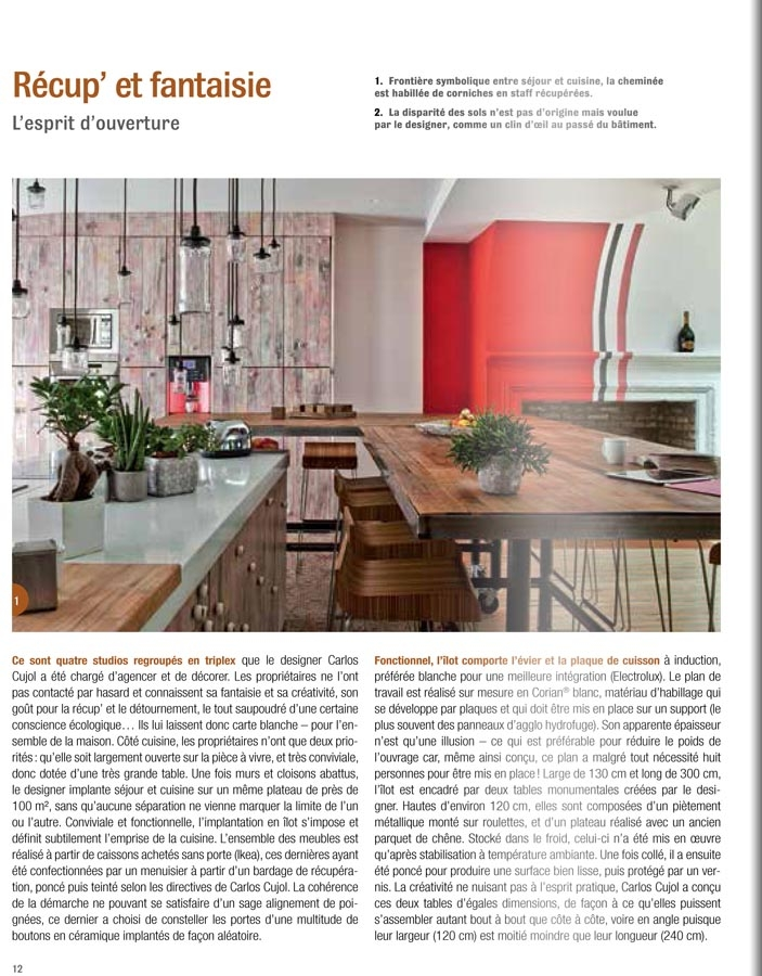 une cuisine oriignale publi e dans cuisines d 39 aujourd 39 hui carlos designer. Black Bedroom Furniture Sets. Home Design Ideas